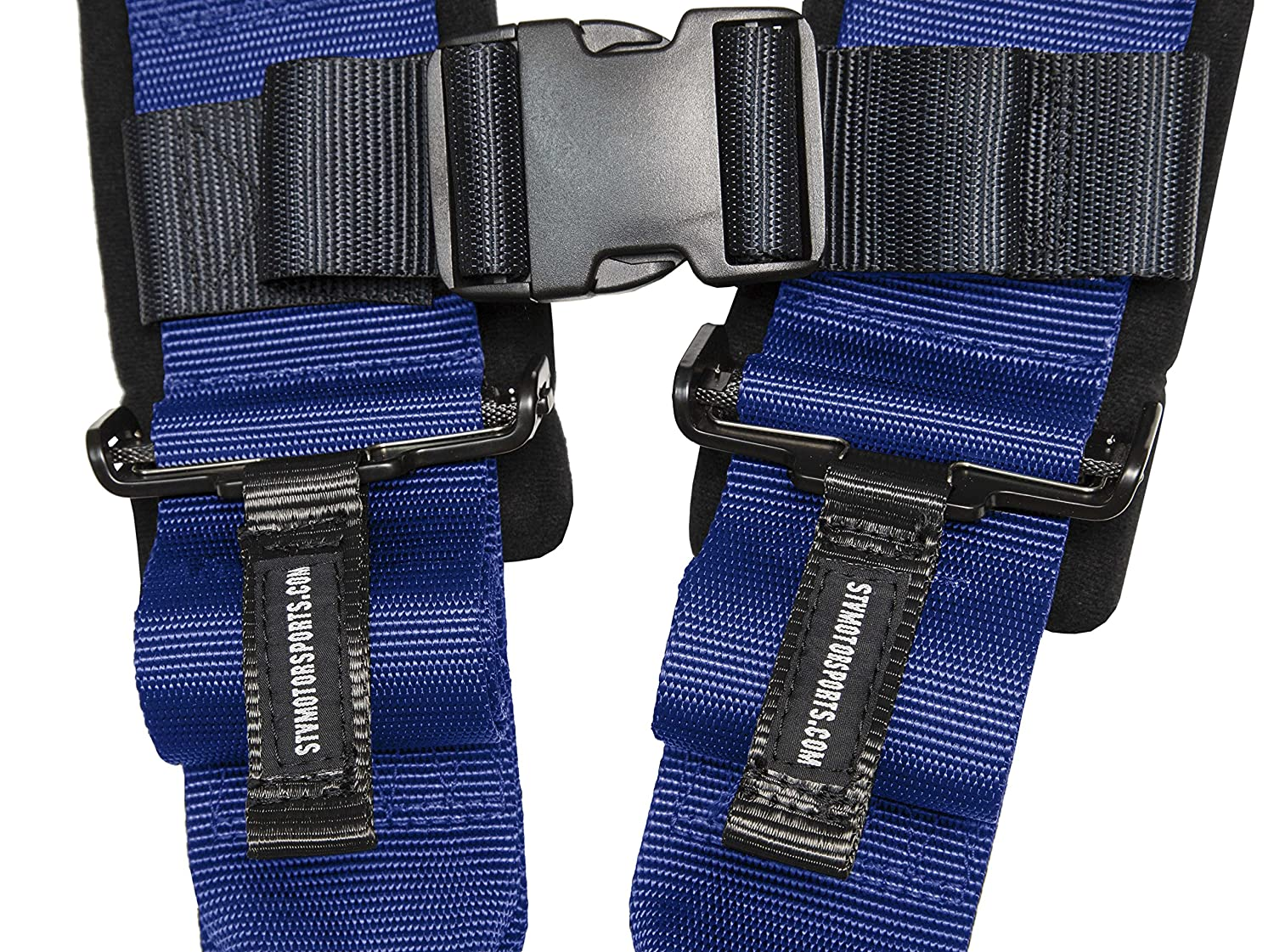 """for Off-Road 2/"""" Pads Latch and Link Quick Release Trucks Black Universal V-Type STVMotorsports 4 Point Harness Single Bolt in Side by Side UTV"""