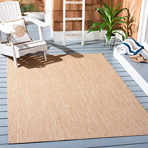 Safavieh Courtyard Collection CY8521-03012 Natural and Cream Indoor/ Outdoor Area Rug 5'3″ x 7'7″