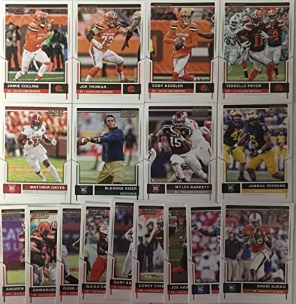 Cheap 2017 Panini Score Football Cleveland Browns Team Set 17 Cards W  for cheap