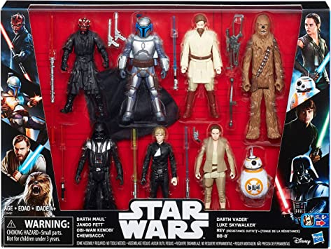 Star Wars Saga Action Figure 8 Pack with Darth Maul: Amazon.es ...