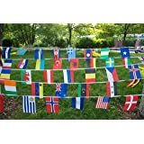 International String Flags Banners,100 Countries Flags World Flags Pennant Banner for Olympics,Festival,Grand Opening,Bar,Sports Clubs 82 Feet 8.2'' x 5.5'' KalaBear
