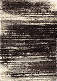 product image for Orian Interference Area Rug, 5' x 7', Black