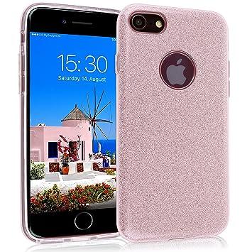 309f90839fe MyGadget Funda Dura de 3 Capas [Glitter Case Brillante] para Apple iPhone 7/ 8: Amazon.es: Electrónica