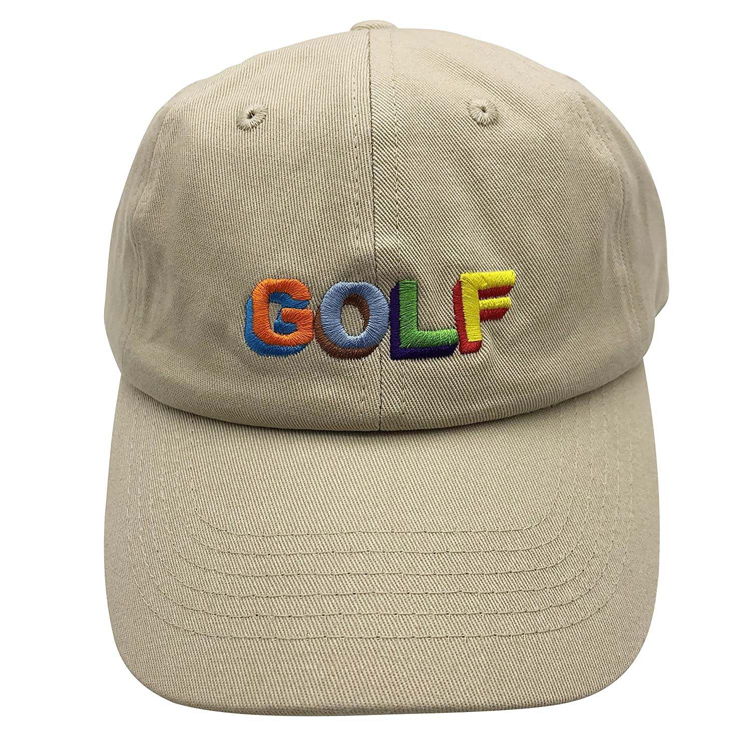 60e6f3d7f944 wuxianyong Golf Dad Hat Baseball Cap 3D Embroidered Adjustable Snapback  Unisex Beige at Amazon Men s Clothing store