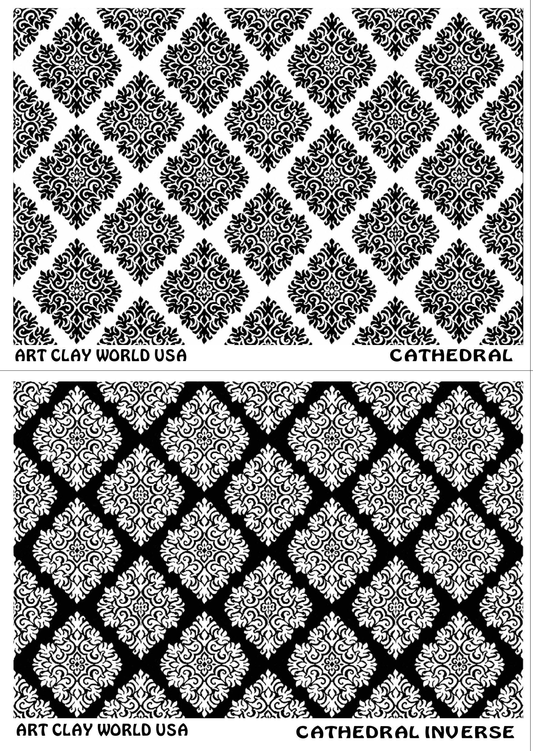 FlexiStamps Texture Sheet Set Cathedral Designs (Including Cathedral and Cathedral Inverse)- 2 pc.