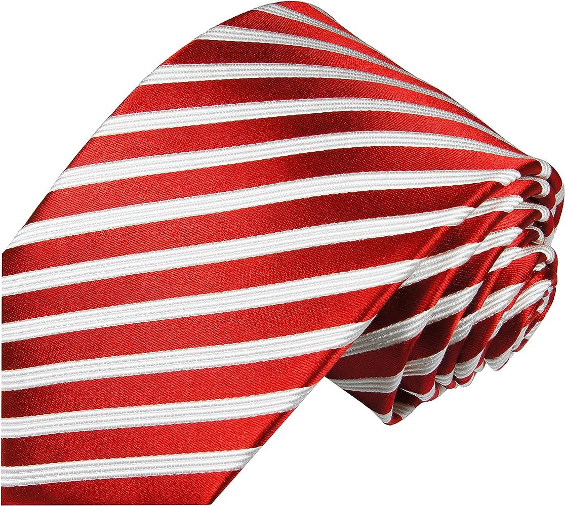 Paul Malone corbata de seda rayas blancas rojas: Amazon.es: Ropa y ...