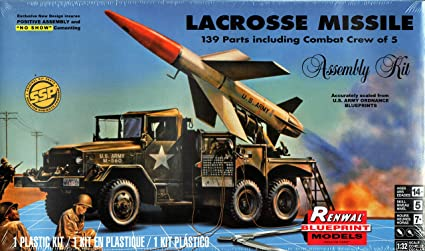 ROCKETS LACROSSE MISSILE WITH MOBILE LAUNCHER PLASTIC MODEL KIT