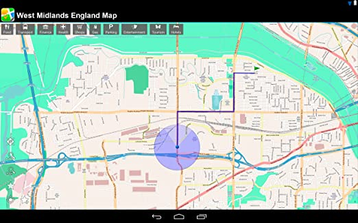 Amazon Com West Midlands England Offline Map Place Stars Appstore
