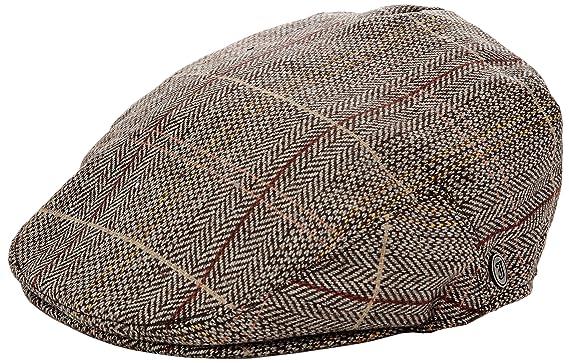 3c9c459ffc9e Jaxon & James Hats Tweed Flat Cap - Brown-Grey: Amazon.co.uk: Clothing