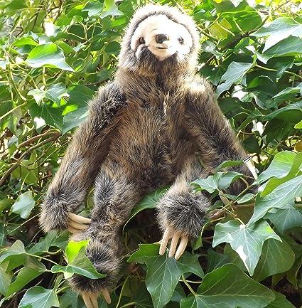 Amazon Com Realistic Stuffed Sloth 16 Sloth Stuffed Toy Animal