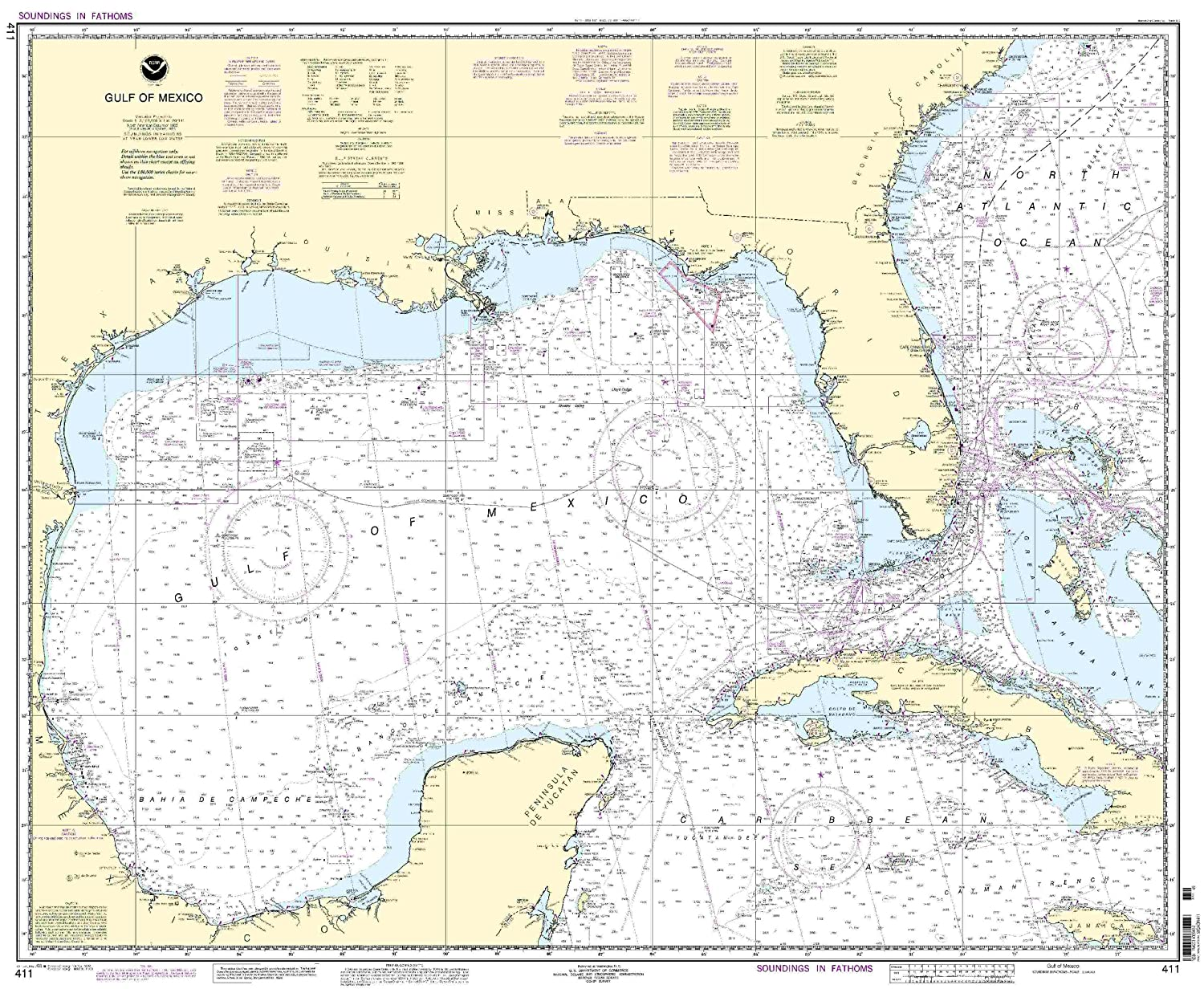 Amazoncom  411 Gulf Of Mexico  Fishing Charts And Maps  Sports