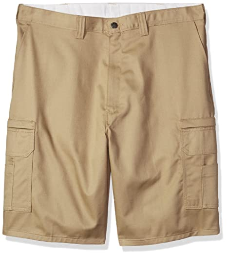 50f1ad0cd8 Dickies Occupational Workwear LR337DS 28 Cotton Relaxed Fit Men's  Industrial Cargo Short with Metal Tack Closure