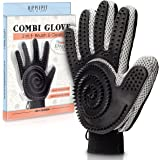 Pet Hair Remover & Grooming Tool - Cat & Dog Brush - For Short & Medium Fur - 2 In 1 - Pet Glove - THE COMBI GLOVE by HIPPIEPET - A New Pet Brushing Experience