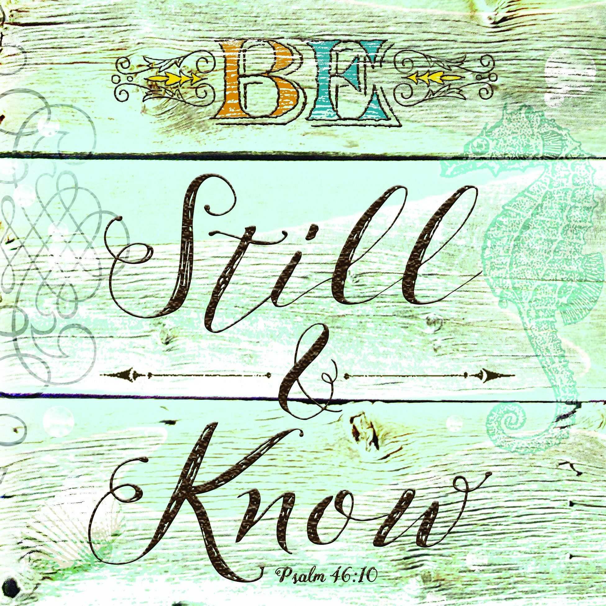 Be Still and Know Wood Look 20 Count 3-Ply Paper Luncheon Napkins Pack of 2