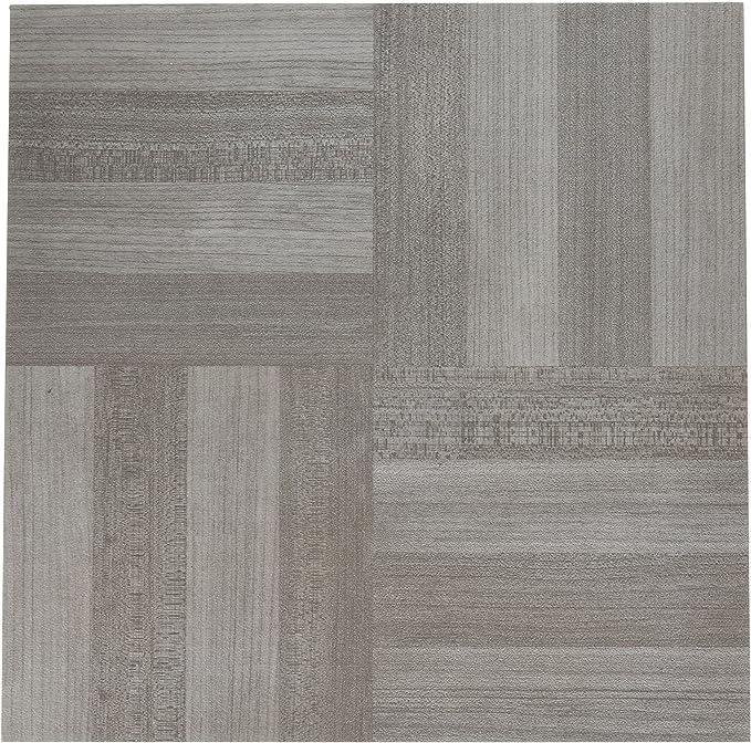 VeroMan Vinyl Floor Tiles Self Adhesive 35 Pieces Set White Oak