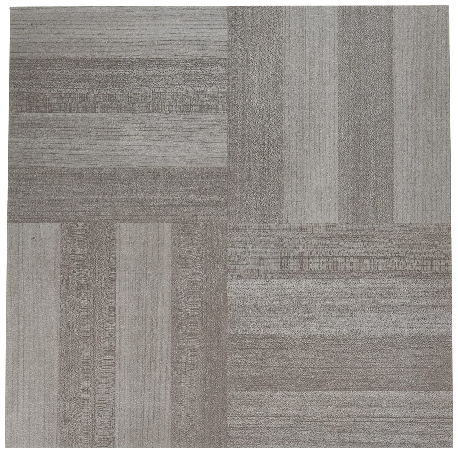 "Achim Home Furnishings FTVWD23120 Nexus Self Adhesive 20 Vinyl Floor Tiles, 12"" x 12"", Ash Grey Wood"