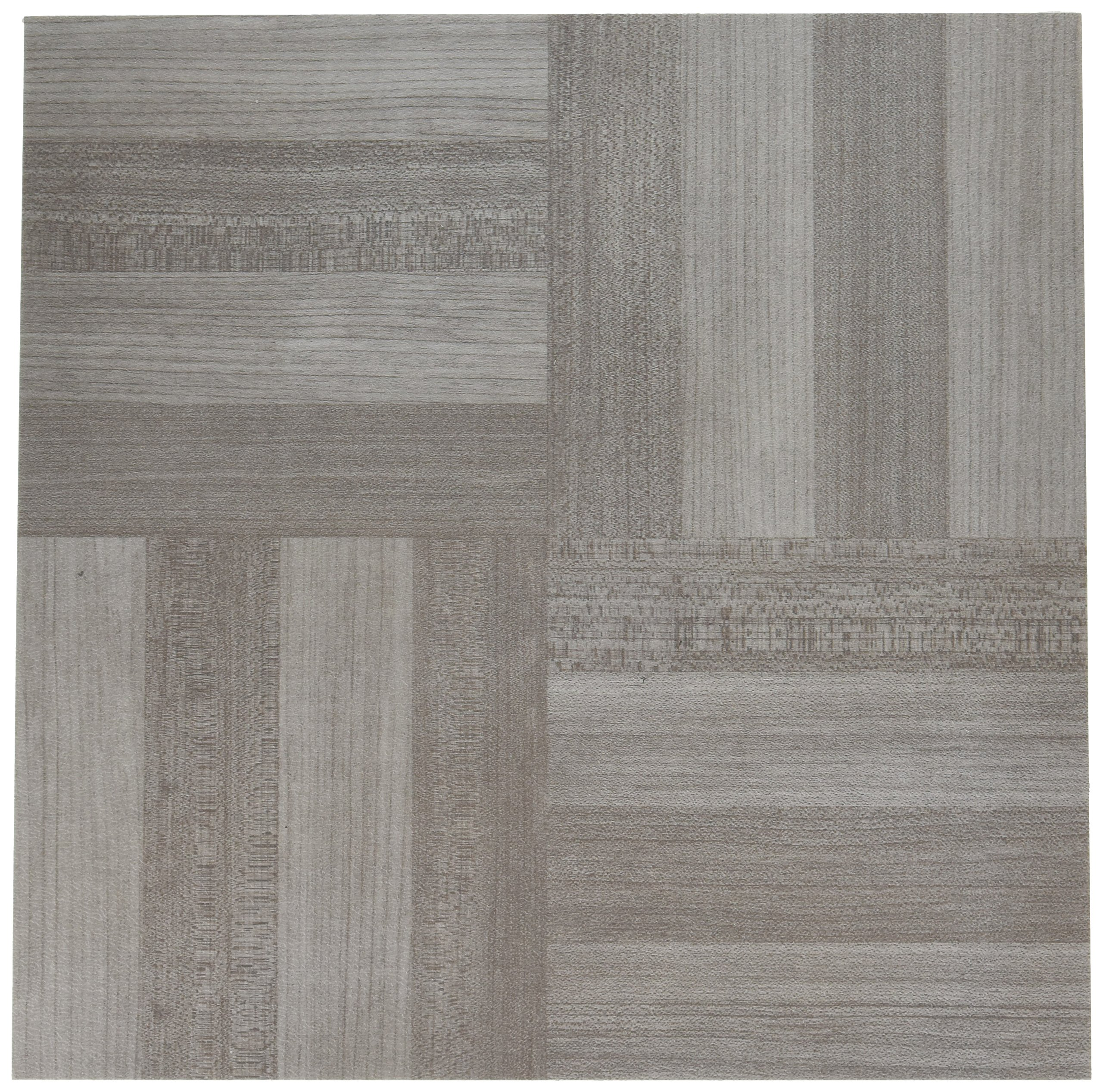 Achim Home Furnishings FTVWD23120 Nexus Self Adhesive 20 Vinyl Floor Tiles, 12'' x 12'', Ash Grey Wood