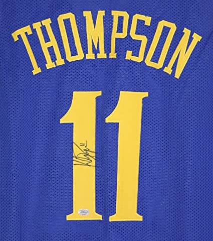 more photos fb768 b8acf sweden klay thompson signed jersey 0c1ea fce37
