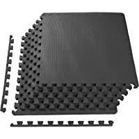 BalanceFrom Puzzle Exercise Mat with High Quality EVA Foam Interlocking Tiles, Black