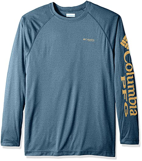 5bfe641fe44f Columbia Men's Terminal Tackle Heather Long Sleeve Big/Tall Shirt, Blue  Heron Heather/