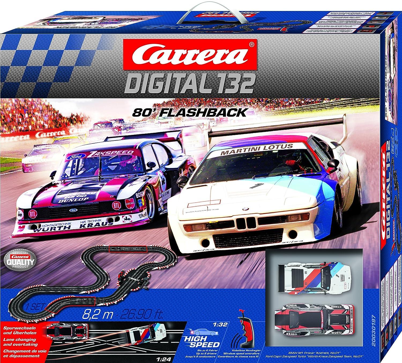 Carrera 30197 Digital 132 80 Flashback - Juego de Coche con Ranura inalámbrica: Amazon.es: Juguetes y juegos