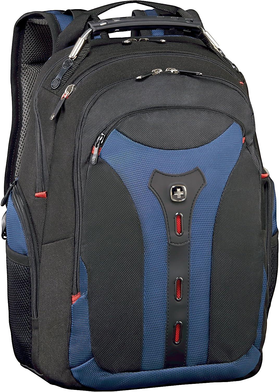 poli/éster y Nailon Wenger Pegasus Mochila con Bolsillo para port/átiles de 17 Color Negro y Azul