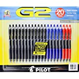 1 X 20 G2 Premium Gel Roller Pens Super Smooth Comfort Grip Refillable Fine 0.7mm Assorted Ink