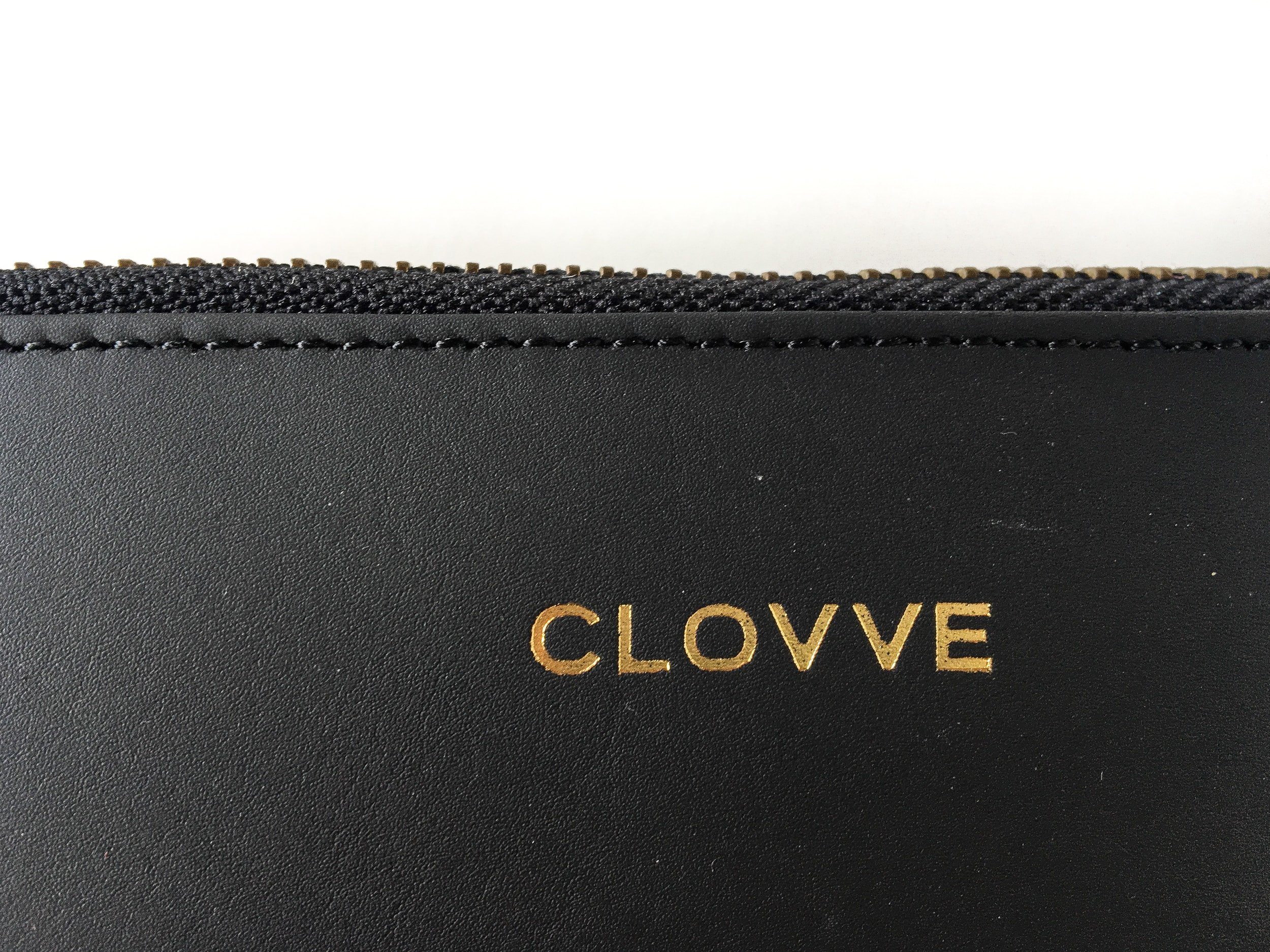 Clovve Handmade Buffalo Leather Women's Wristlet, 7 Inches| Classical Monochrome Luxury Range | Casual purse for outings, dates, and parties | Monochrome Black by Clovve (Image #3)