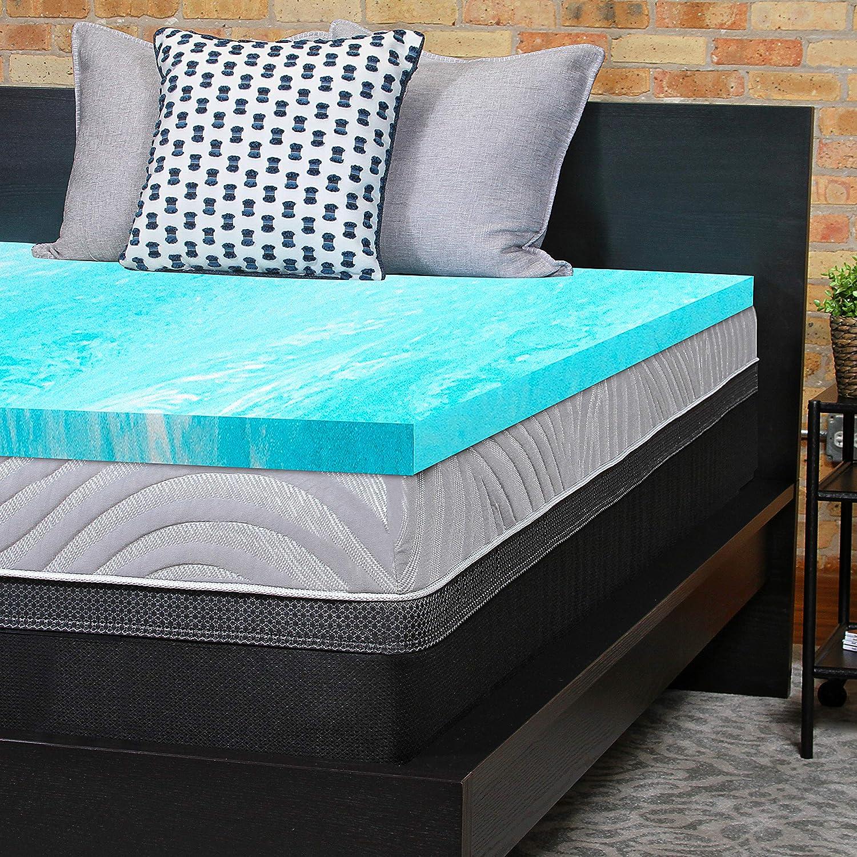 Amazon.com: Sealy Essentials 2-Inch Gel Memory Foam ...