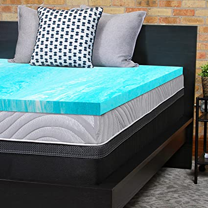 Amazoncom Sealy Essentials 2 Inch Gel Memory Foam Mattress Topper