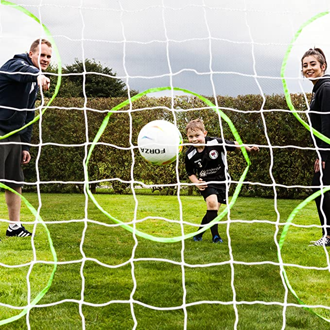 Perfect for Improving your Shooting Available in sizes 12ft x 6ft, 16ft x 7ft and 24ft x 8ft The Soccer Store Diamond Corner Target Sheet