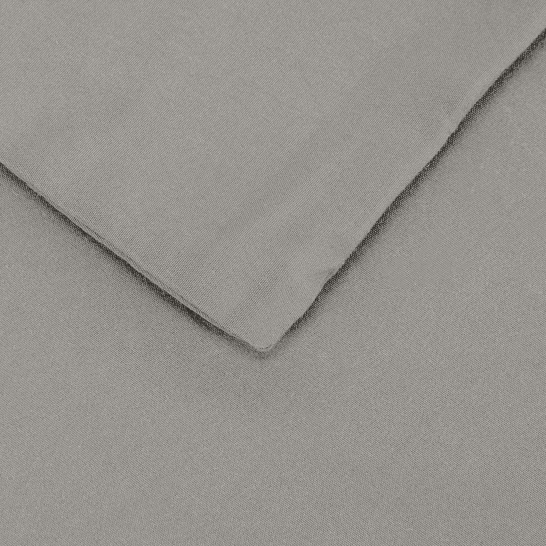 Taupe Bettw/äsche-Set Basics 135 x 200 cm Mikrofaser