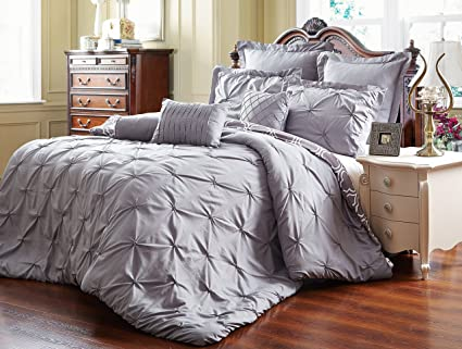set ca and home goods groupon sheet gg chic pleat deals piece sets comforter pinch sabrina pleated