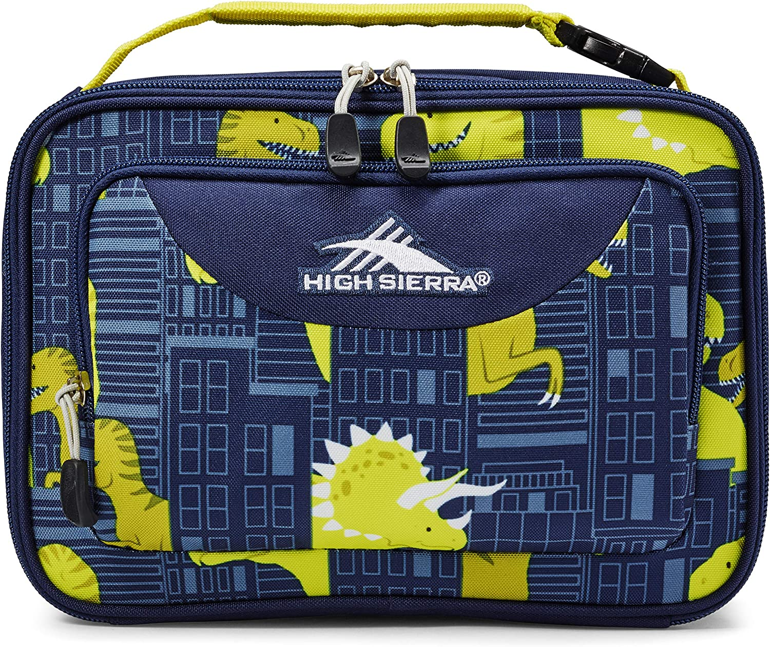 High Sierra Single Compartment Lunch Bag, One Size, Dino City