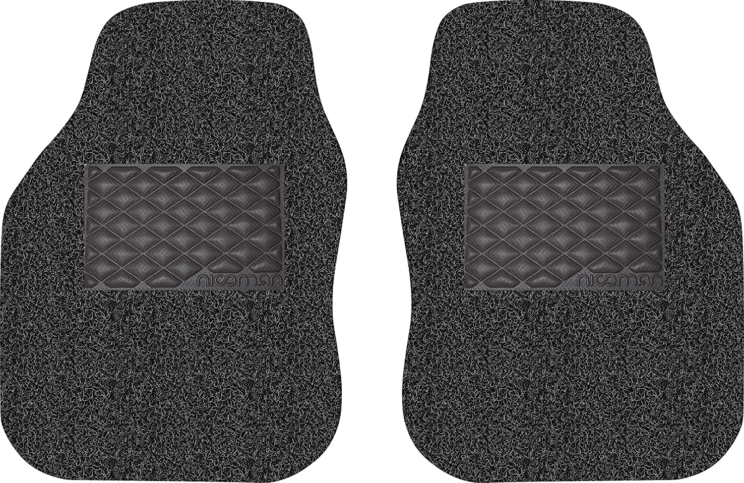 Nicoman UNI-1-CUT-BK-RIGHT Car Mat, Black, Opt1-Driver Side 1-Piece NICOMAN_Ltd