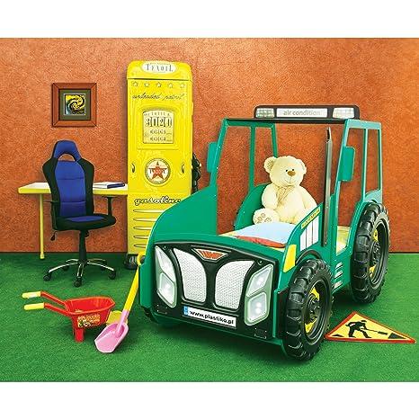 Kinderbett junge traktor  Kinder Bett Kinderbett mit Matratze Auto Traktor (grün): Amazon.de ...