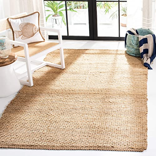 Safavieh Natural Fiber Collection NF459A Hand Woven Natural Jute Area Rug 10 x 14