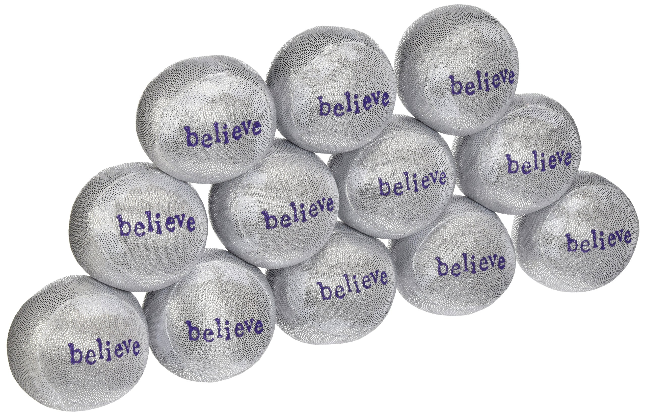 Lavender Luvies Lavender Stress Balls, Silver Believe - 12 Pack