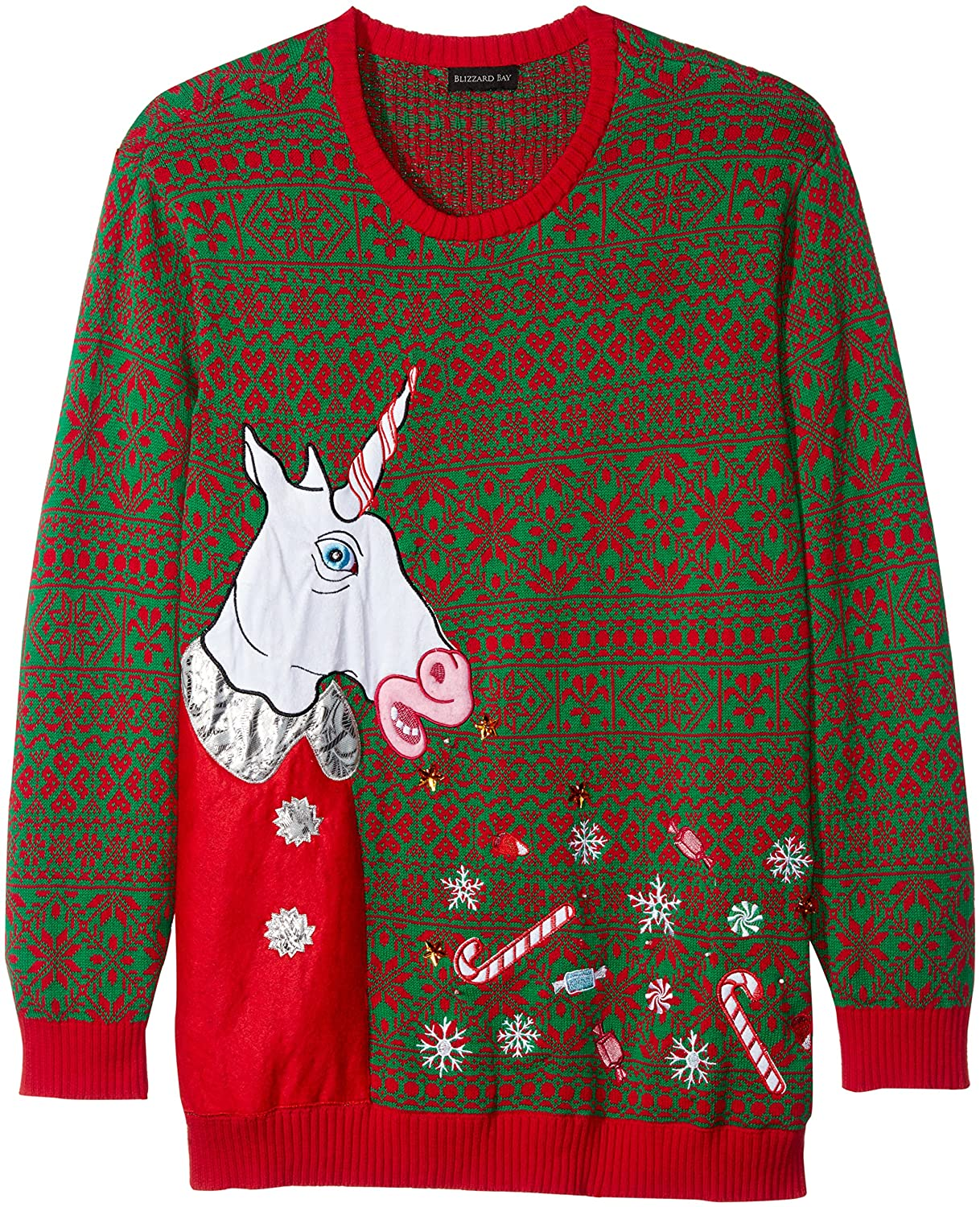 6f93cce11 Men's big and tall long sleeve pullover sweater with a fun and festive  holiday design. Comfortable and soft knit for a warm and cozy feel