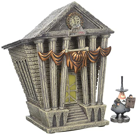 Nightmare Before Christmas Houses.Department 56 Nightmare Before Christmas Village Halloween Town City Hall Lit House
