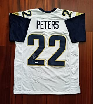 22 white nike kansas city chiefs stitched elite youth football jersey b52fc  d1535  inexpensive marcus peters signed autographed jersey los angeles rams  jsa ... 04556e6f8