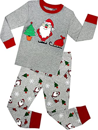 shelry boys and girls christmas pajamas children cotton clothes kids pjs pants set size 2 years - Christmas Pajamas For Girls