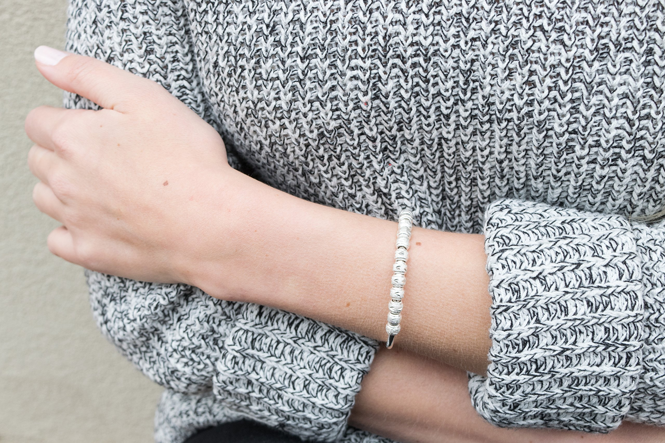 Chelsea Charles Count Me Healthy Journal Bracelet - Silver by Chelsea Charles (Image #5)