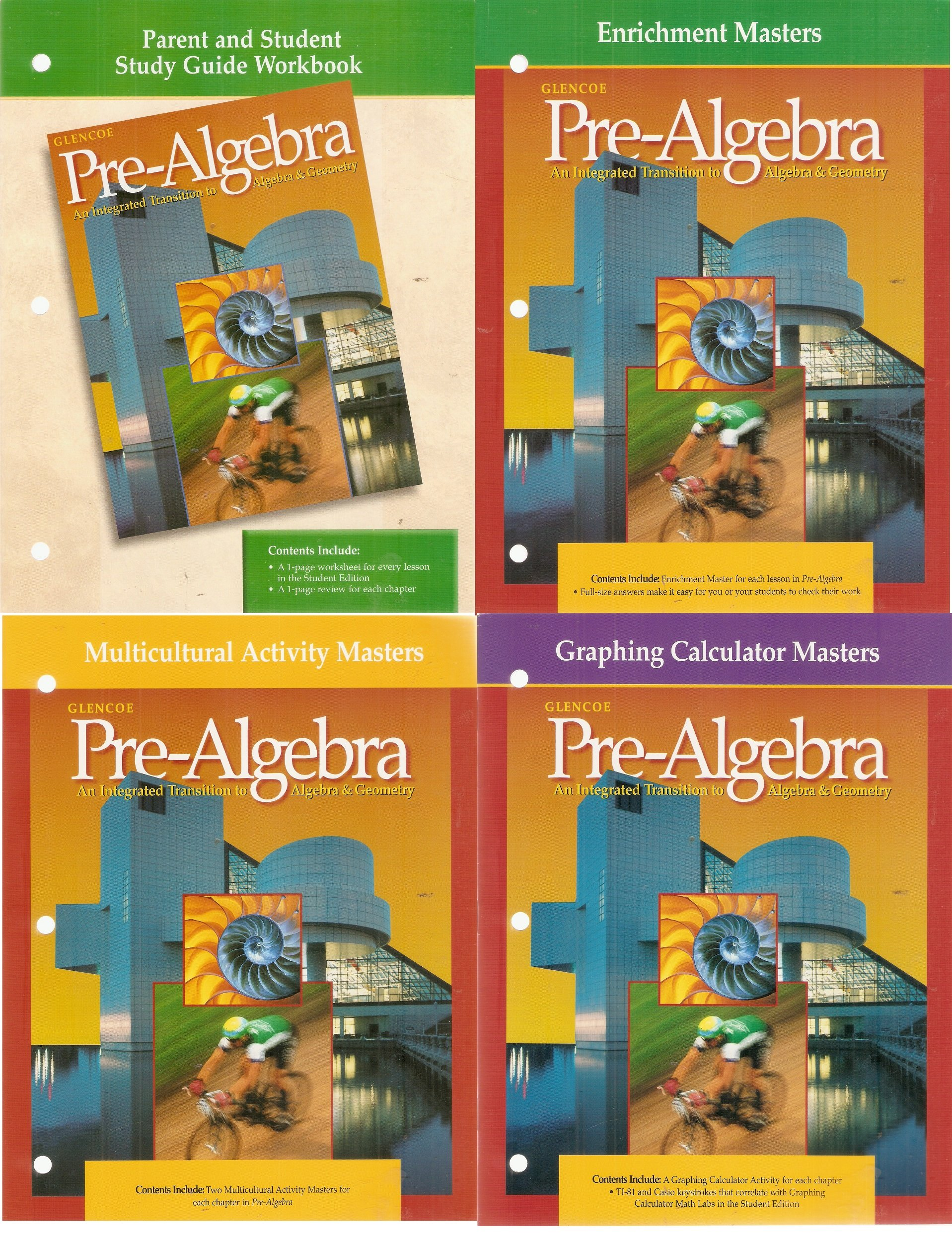 4 Volumes Of Glencoe Pre Algebra An Integrated Transition