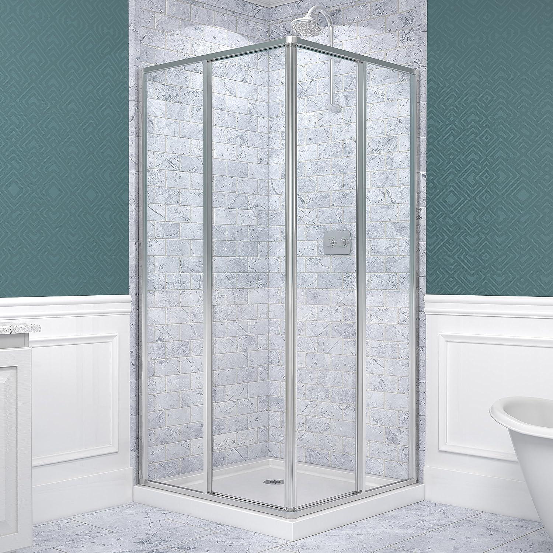 dreamline cornerview 34 1 2 in d x 34 1 2 in w framed sliding dreamline cornerview 34 1 2 in d x 34 1 2 in w framed sliding shower enclosure 5 32