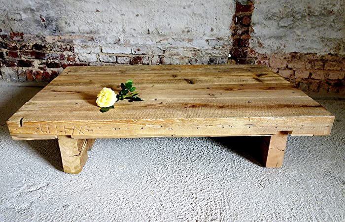 Altholz Tisch Massiv Sandgestrahlt Rustikal Upcycling Produkt Aus