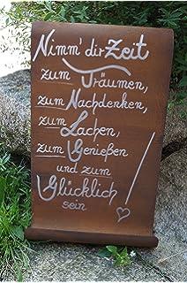Edelrost Spruchtafel Tafel Schild Gartendeko Herz