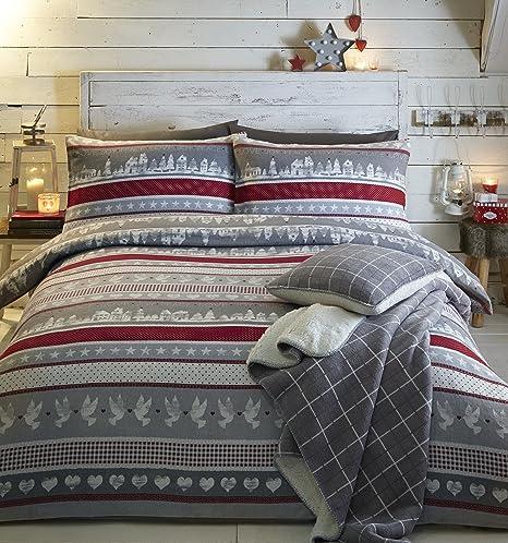 Fusion - Nordic Christmas - 100% Cotton Duvet Cover Set - King ...
