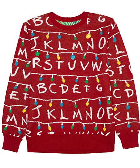 Amazoncom Stranger Things Mens Ugly Holiday Led Light Up Sweater