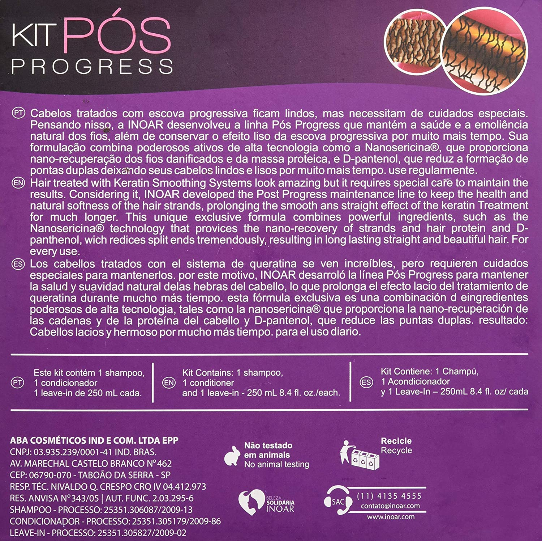 Inoar Professional - POS Progress Shampoo & Conditioner - 250ml / 8.45oz